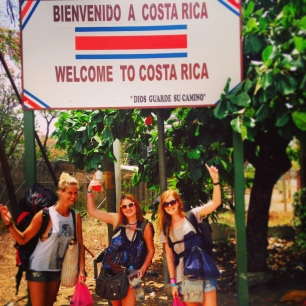 Arriving in Costa Rica with Lauren and Marjan
