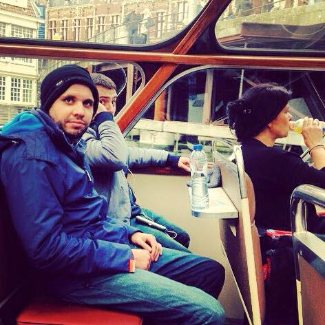 Harry on the canal confused as to why he woke up in Amsterdam.